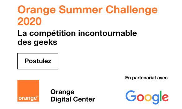 Orange Summer Challenge : une nouvelle édition en partenariat avec Google